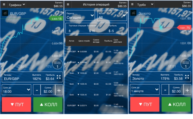 Мобильная торговля Binex 5